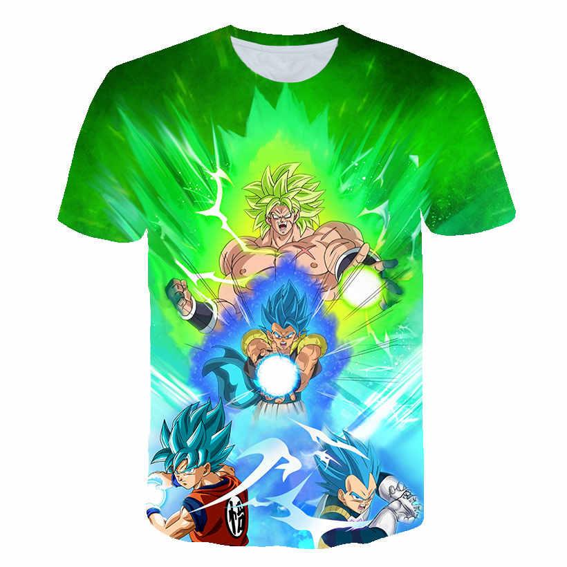 "2019 Dragon Ball супер футболка костюм Гоку мужская футболка аниме мужской Драконий жемчуг ""супер"" Z Beerus синий 3D футболка одежда футболки"