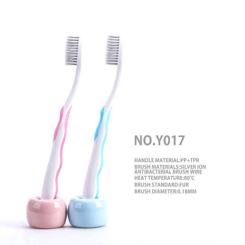Новые взрослые 2 шт Серебристые ионные антибактериальные импортные проволочные щетки Зубная щетка для ухода за полостью рта Y017(случайный цвет