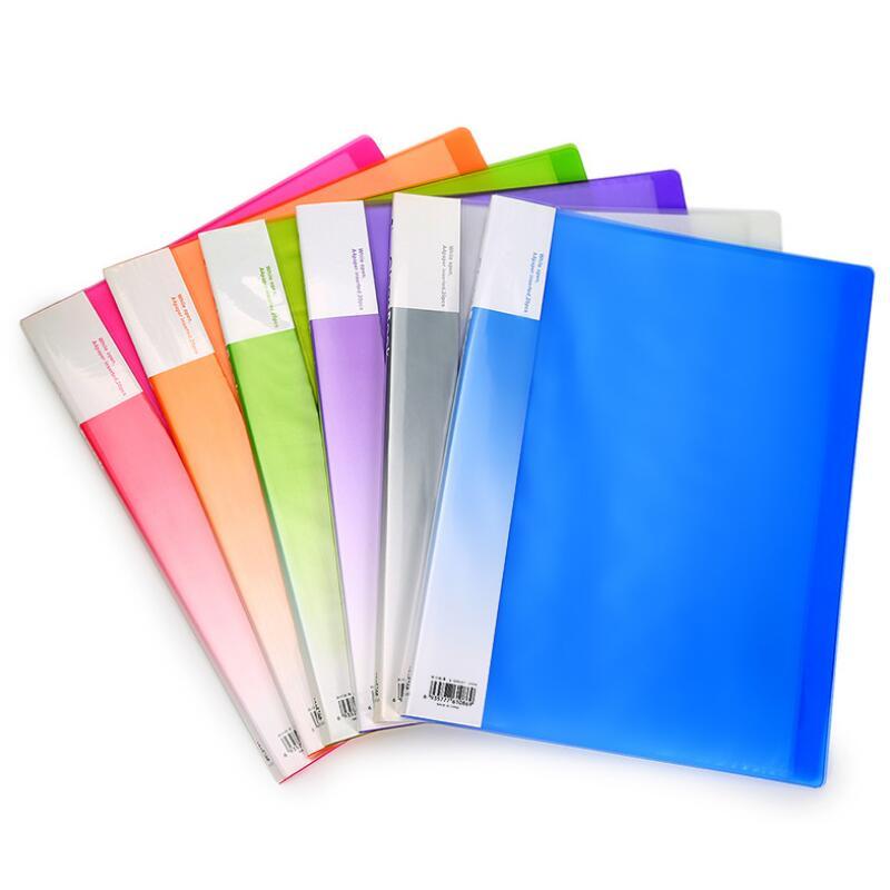 HUAJIE New A4 Information Booklet 40 Pockets Multifunctional Folder Pocket File Folder Stationery Office & School Supplies