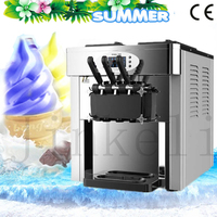 Free air ship 2017 famous commercial desktop soft ice cream machine Stainless Steel LED sweet ice cream cone ice cream maker