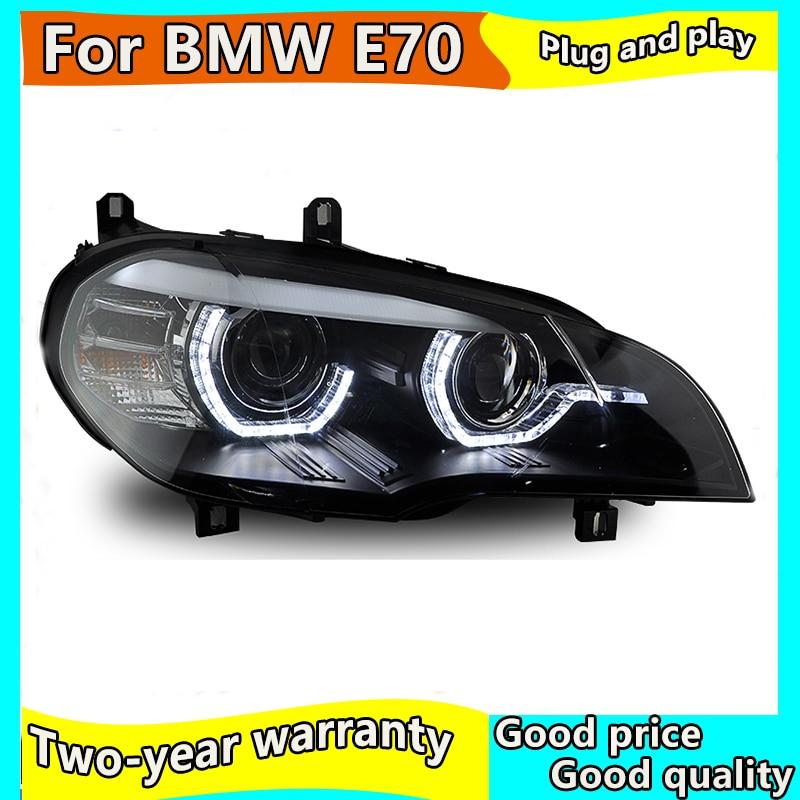 Style de voiture pour BMW X5 E70 LED phare lampe assemblage 2007-2011 année DRL + clignotant + frein + marche arrière