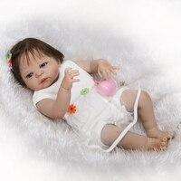 57 см полный силиконовый корпус Reborn Baby Doll игрушки новорожденных Принцесса Девушка Дети малышей куклы купаться игрушка для девочек Bonecas Play до