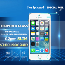 Ultra Thin 0 26 mm 2 5D Premium Tempered Glass Screen Protector For iPhone 4 4s