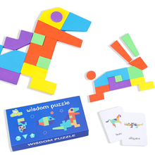 Montessori Wooden Jigsaw Puzzle Board Set Colorful Baby Educational Wooden Toy for Children Learning Developing Toys Child Gift цена в Москве и Питере