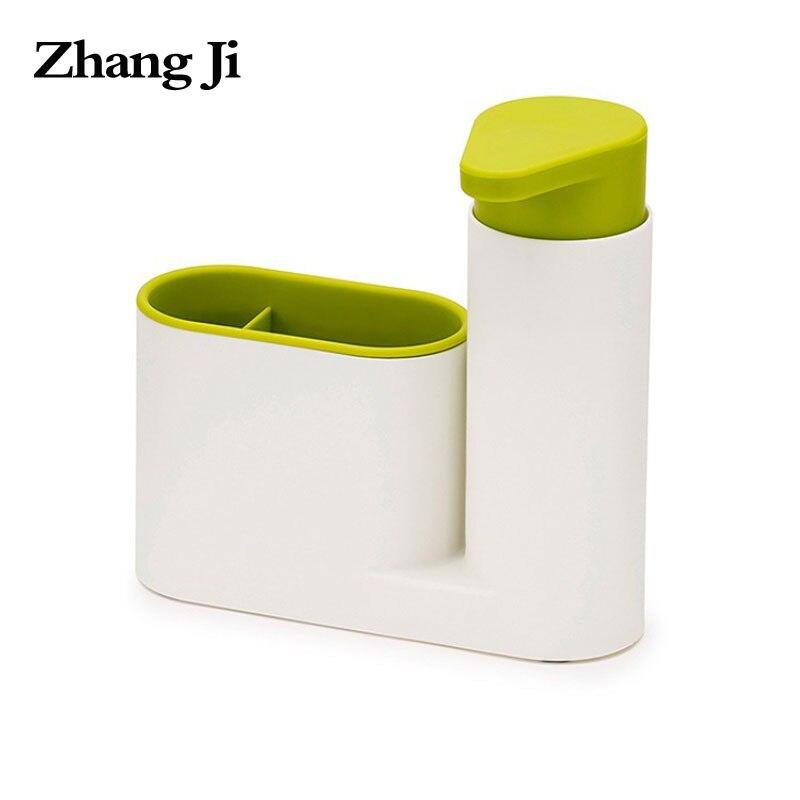 Zhangji 2 en 1 jabón líquido dispensador de baño Almacenamiento de baño set estante champú jabón dispensador práctico para la cocina ZJ130
