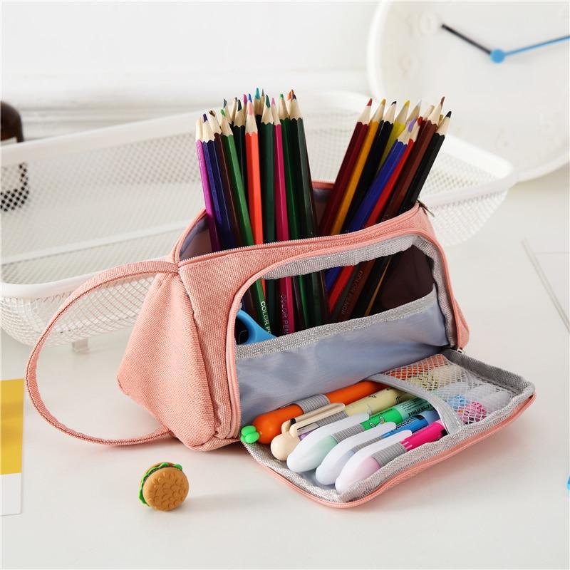 Neue Reizende Bleistift Fall Kawaii Große Kapazität Pencilcase Schule Stift Fall Liefert Bleistift Tasche Schule Box Bleistifte Beutel Schreibwaren