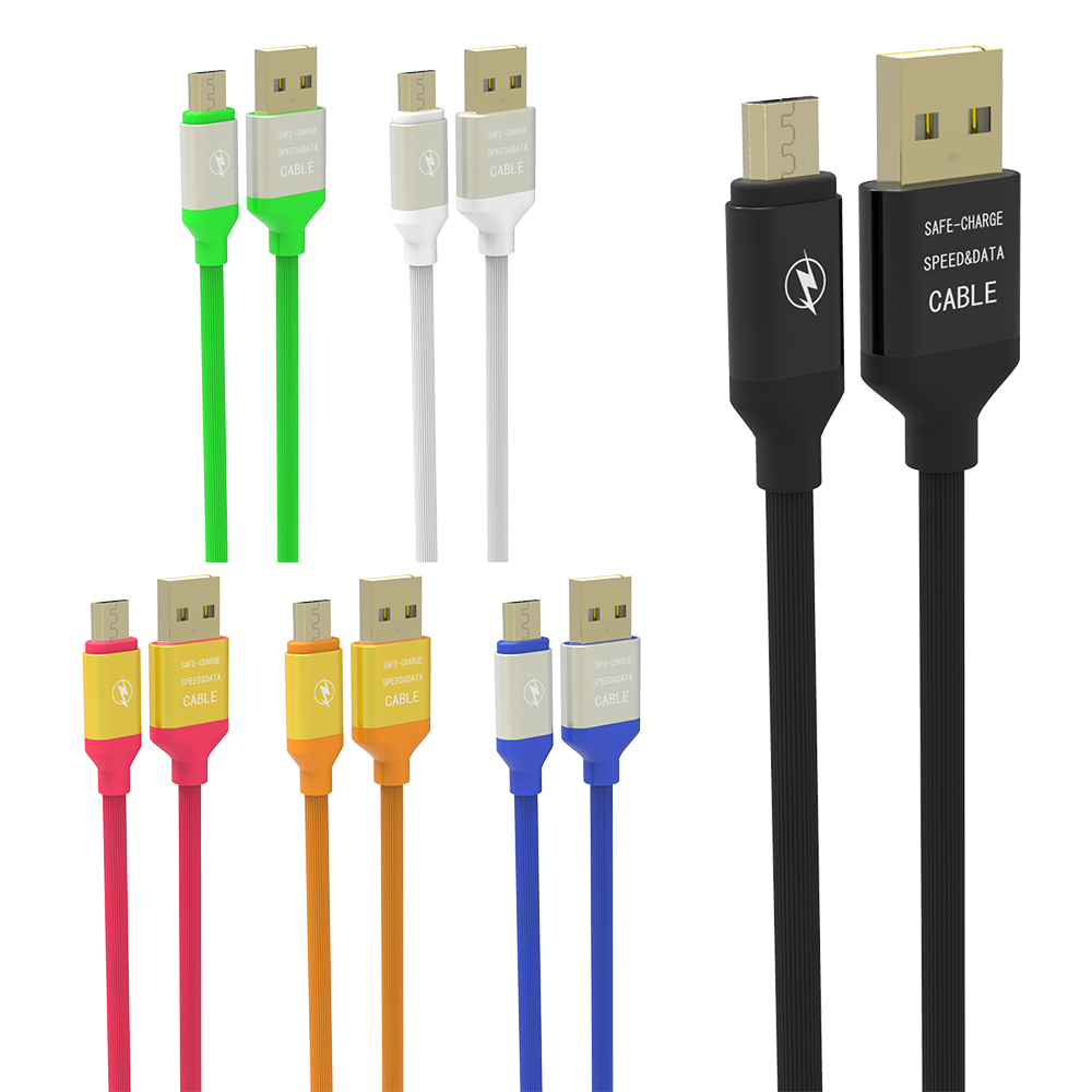 Color q online - Soft Q Cable Micro Usb Color Cable For Samsung Galaxy S4 5 6 7 Note