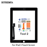 replacement home button Touch Screen Digitizer For Apple iPad2 3 4 5 Air Front Glass Display Touch Panel Replacement With Home Button Flex+Repair Tools (4)