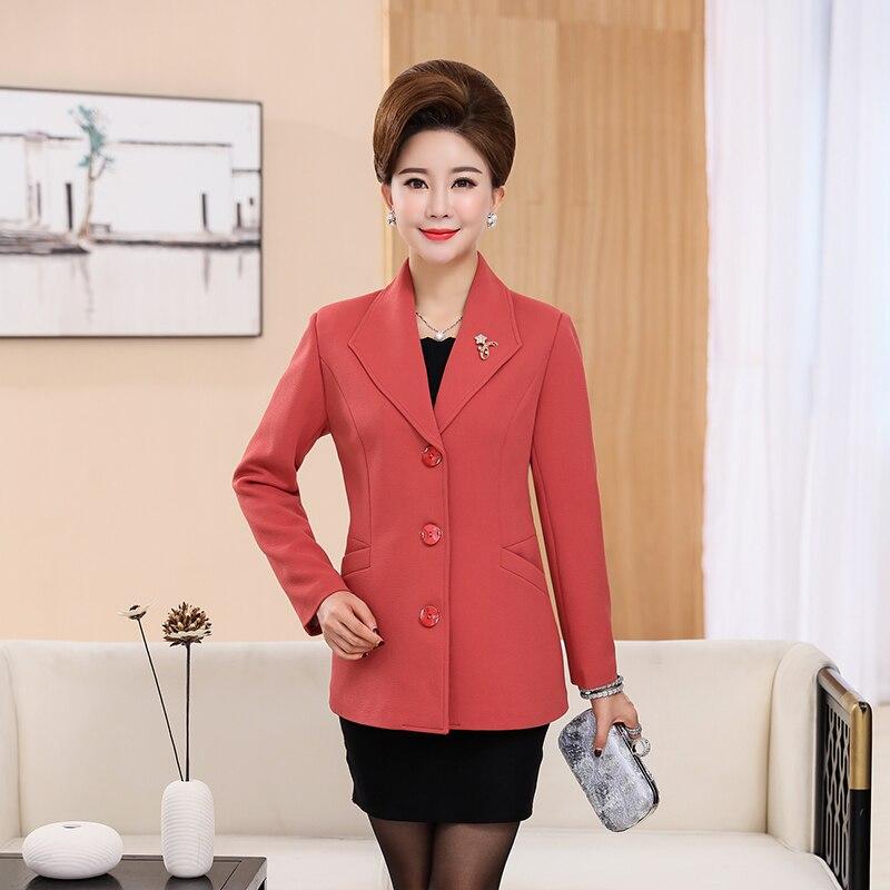 3a850d6983e01 Élégant Lady Xiangpihong Vert Base Femme De D'âge Rouge Bleu Waeolsa 4xl Blazers  Costumes Veste Blazer Manteaux Moyen doulvse Femmes Bureau ...