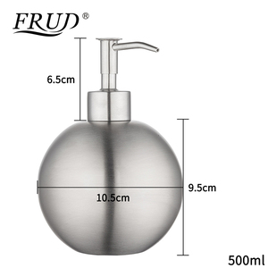 Image 4 - FRUD Single Stainless Steel Pumps Manually Soap Dispenser Bottle Of Hand Sanitizer Circular Device 500ml Bathroom HardwareY35012