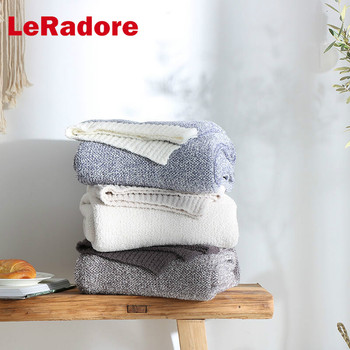 LeRadore Pure Handmade Knitted Blanket Thread Blanket Photography prop Autumn Spring Sofa Bed Home Decor Throws Blankets