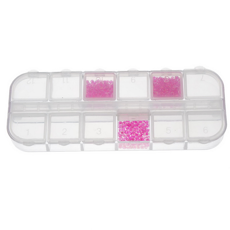 Hoomall 12 Grids Portable Display Box Container Jewelry Beads Storage Box Slot Tool Bead Diamond Painting Accessories Organizer