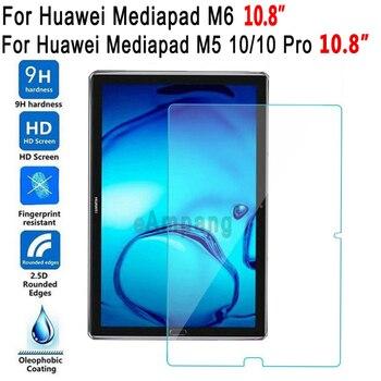 Vidrio templado para Huawei Mediapad M5 10 Pro M6 10,8 película protectora de pantalla Tablet Protector de pantalla para Huawei M5 10 Pro 10,8 M6