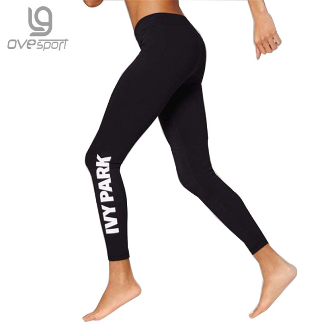 Women's Leggings For Adventure Time Bodybuilding Workout Clothing Quick Drying Elastic Leggings Letter Printing Women