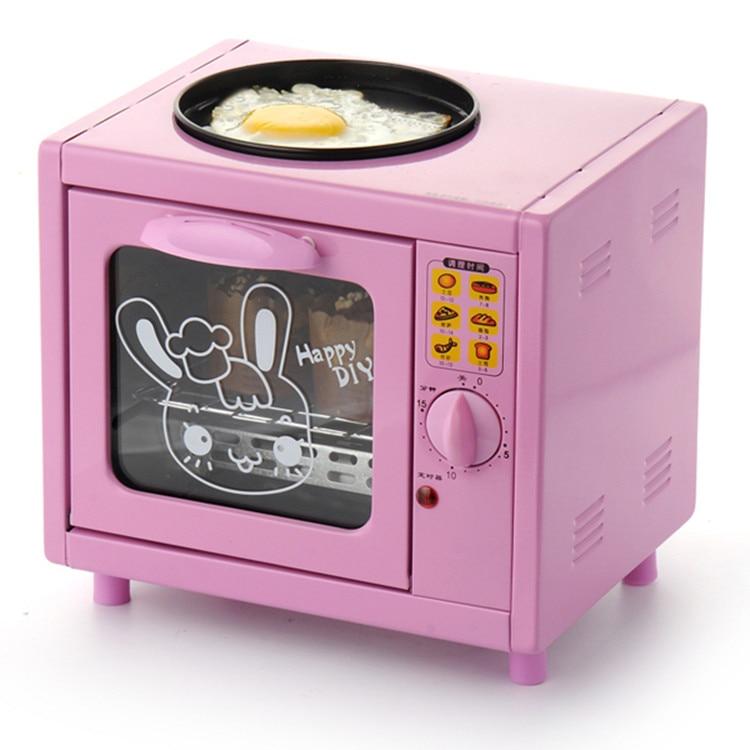 Offre spéciale Mini four de boulangerie électrique avec minuterie petit déjeuner four électromécanique 5L mini ménage multi-fonction four oeufs au plat