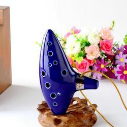 Musical Instrument Ocarina Ceramic Alto C Legend of Zelda Zelda Ocarina Flute Blue Retro creative 12 hole pottery out