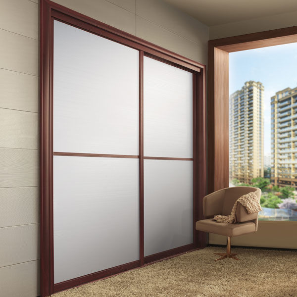 New Design Modern Bedroom Sliding Wooden Wardrobe Yg11431