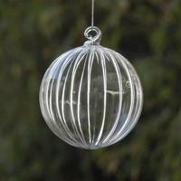 Big Packing Christmas Tree Ornament Pendant Striped Glass Ball Christmas Day Glass Gifts Hanging Decorative Glass Globe
