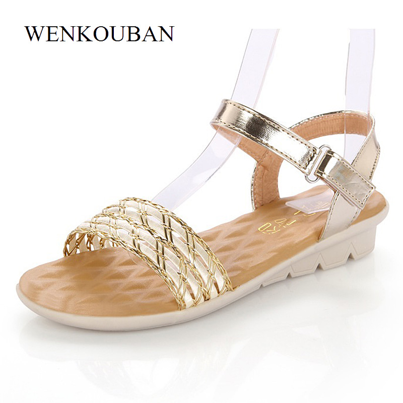 Designer Sandals Women Gladiator Sandals Summer Beach Shoes Ladies Roman Sandals Casual Flat Sandalias Zapatos Mujer Size summer sandals women clogs beach slipper women shoes casual sneakers women flats sandals ladies shoes zapatos mujer