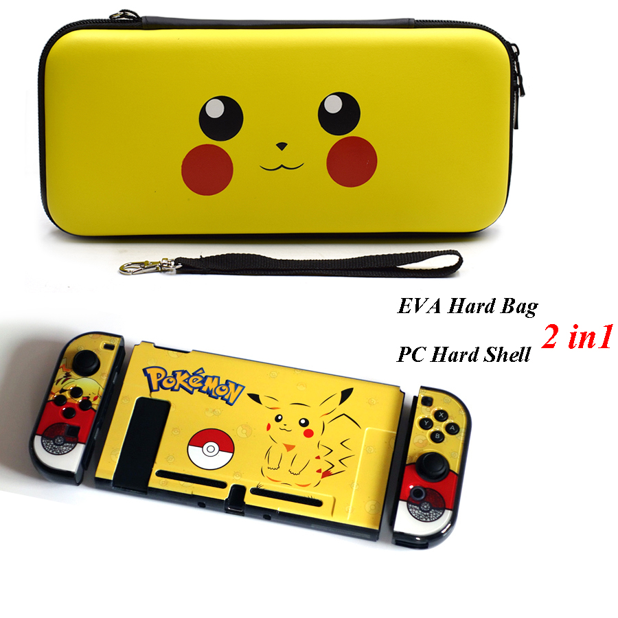 2 in 1 Nintend Schalter Tasche mit Bunte Muster Hard Kristall Schutzhülle Shell Fall Kit für NS Nintendo Schalter