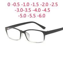 0 -1 -1.5 -2 -2.5 -3 -3.5 -4 -5 -6 Finished Myopia Glasses Men Short-sight Eyewear Black Transparent Frame Women