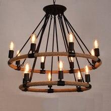 Retro Industrielle Lampe Seil Edison Vintage Pendelleuchte Cafe Bar Stil Loft Repo