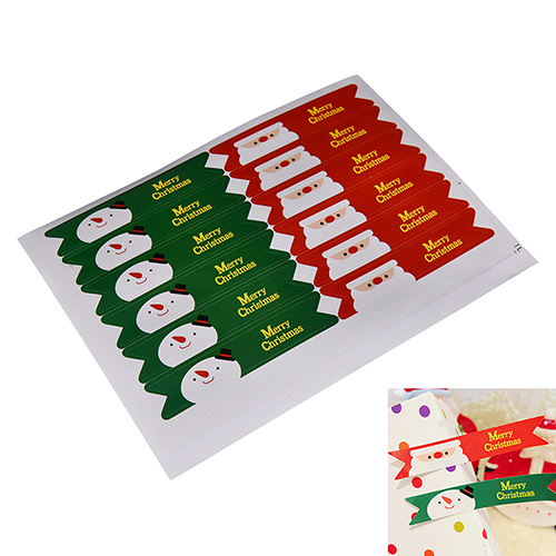 36 Pcs/set Merry Christmas Santa Claus Snowman Seal Sticker Christmas Package Paper Stationery Sticker Xmas Gift