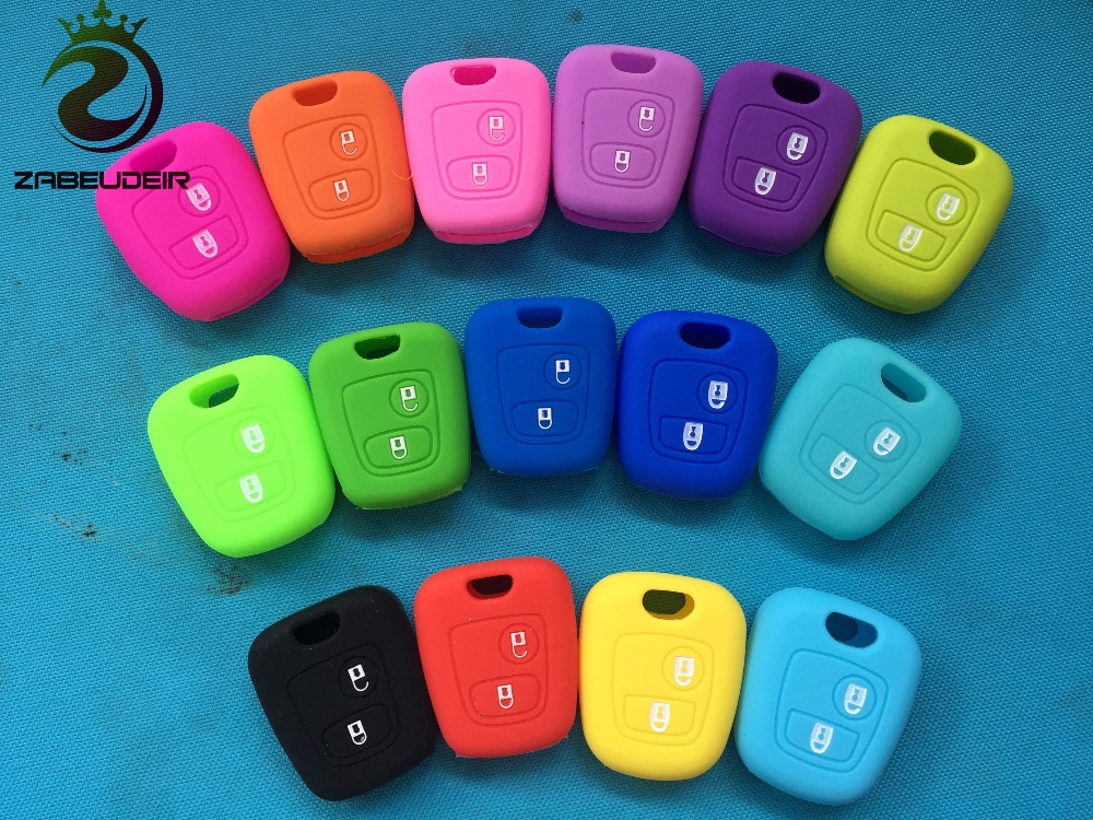 SEGADEN Silicone Cover Protector Case Skin Jacket fit for PEUGEOT CITROEN 2 Button Flip Remote Key Fob CV4302 Orange