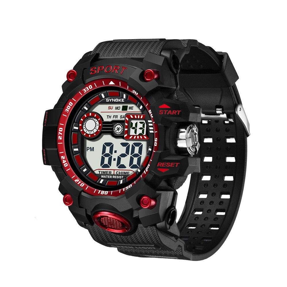 SYNOKE Solar Power led Digital Sports Wrist Watch Men's Woman Unisex EL Backlight STOPWATCH 3ATM Waterproof Relogio цена и фото