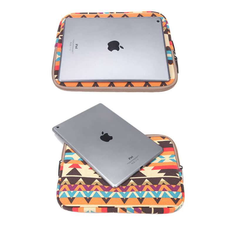 2019New الأزياء بطانة كم طباعة قماش حقيبة تابلت ل أبل ipad mini 1 2 3 4 حالة ل Xiaomi هواوي سامسونج لينوفو تبويب غطاء