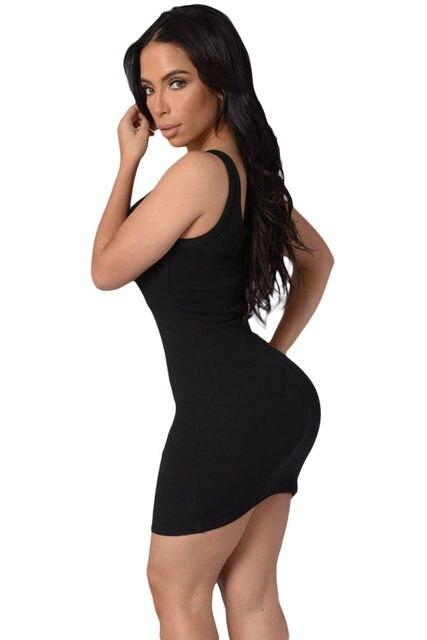 9474325c8a5 Online Shop Black Pink Fashion Women Mini Tank Dresses Scoop Neck ...