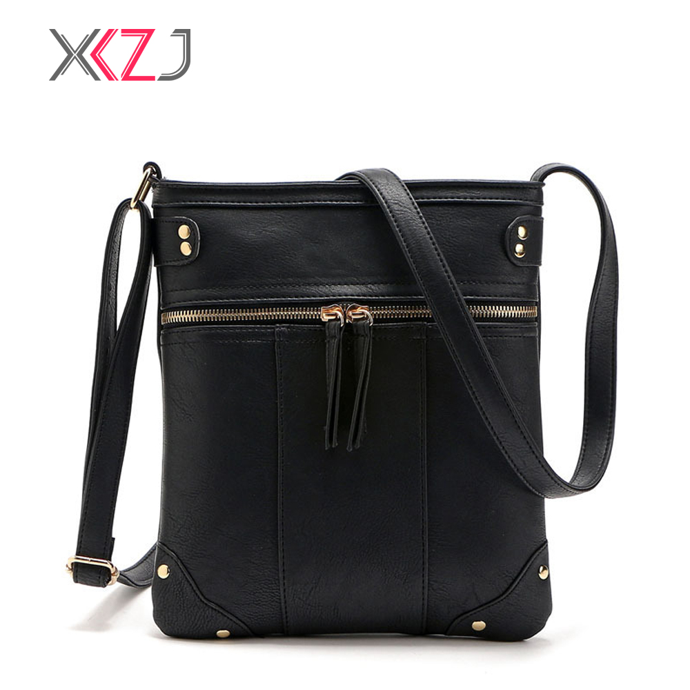 Women Shoulder Bags Fashion Bag With Rivet Shell Women Small Messenger Crossbody Bag Ladies Zipper HandBags
