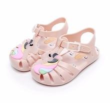 Mini Melissa Unicorn Brazil Roman Girls Jelly Sandals 2018 New Summer Children  High Quality Shoes