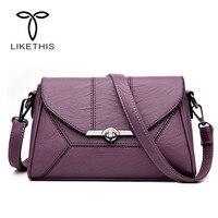 2018 New Fashion Women PU Leather Crossbody Handbag Small Sling Shoulder Bags Mobile Phone Bags Bolsa Ladies Design Fashion 3888