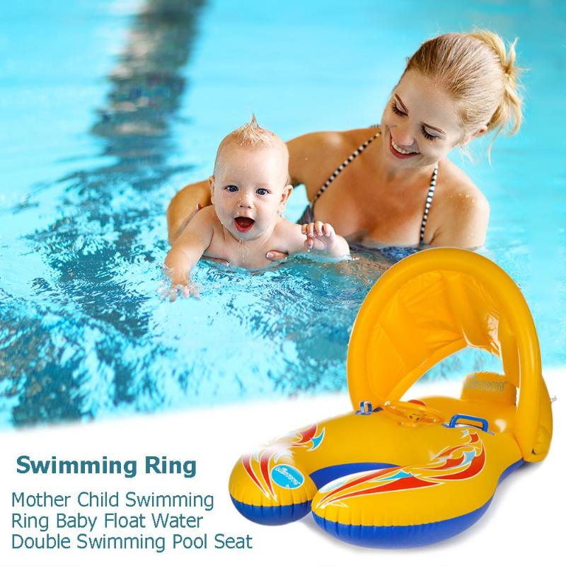 Mother Child Swimming Ring Baby Float Water Double Swimming Pool Seat(China)