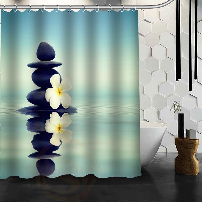 Xüsusi Zen daş Duş Perdesi Polyester Parça Daha çox ölçülü - Ev əşyaları - Fotoqrafiya 6