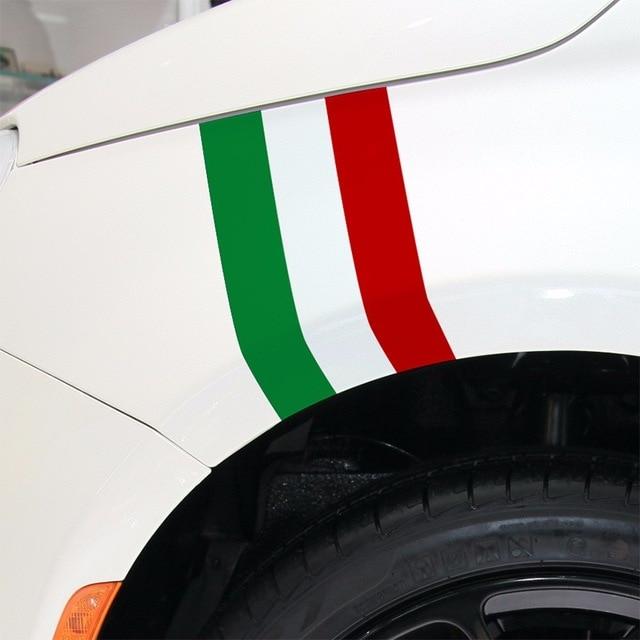 3 Kleur/set Aanpasbare ItaliË Kleur Sport Auto Covers Stickers Decal Auto-styling Voor Fiat 500 Grande Punto Bravo Auto Accessorie