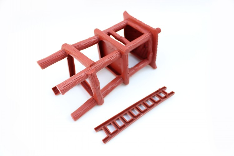 Military model simulation wood color large booth plastic models Sandbox scene Soldier booth 18.5cm 1pcs/set Free shipping