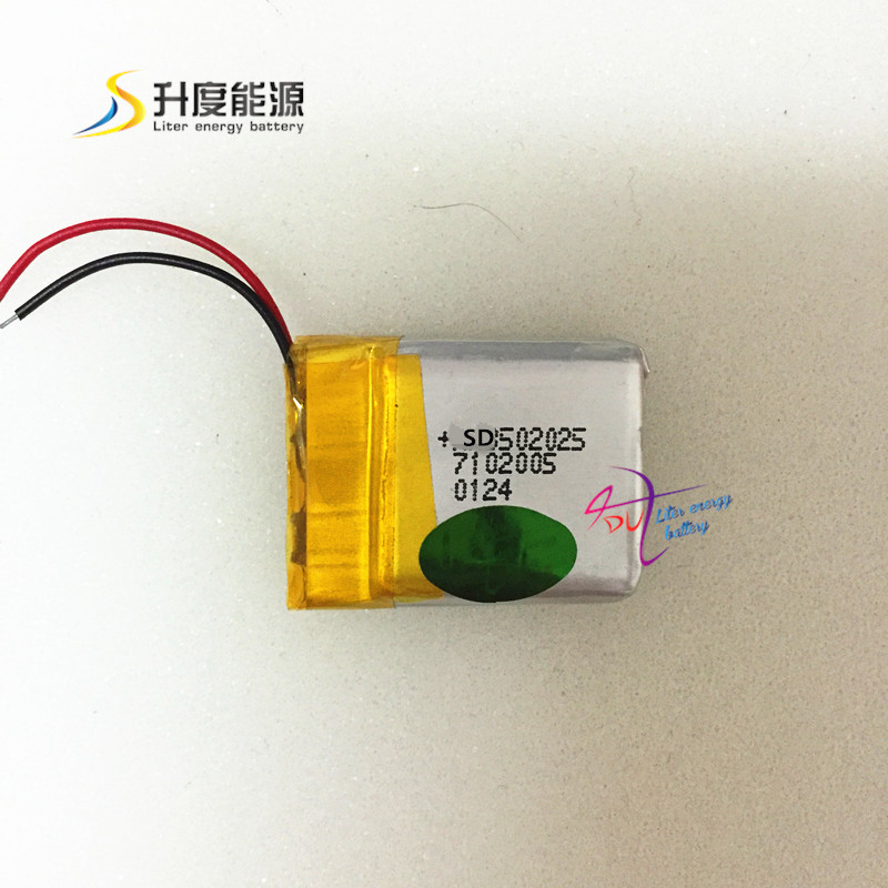 SD <font><b>502025</b></font> <font><b>502025</b></font> 3.7v 200mAH lipo <font><b>battery</b></font>, li-polymer 3.7v 200mah for digital products image
