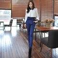 Dabuwawa duas cores de todos os jogo de cintura alta arco calças leggings