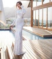 Чистый Белый Кружева Невесты Платья Без Бретелек Полный Линии Этаж Длина С Плеча Природного 2015 Сшитое Новое Прибытие