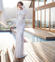 Pure White Lace Bridesmaid Dresses Full Strapless A Line Floor Length Off the Shoulder Natural 2015 Custom Made New Arrival