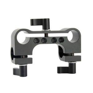 Image 2 - NICEYRIG 15mm DSLR מוט מהדק כפול כדי יחיד 90 תואר Railblock וידאו מצלמת וידאו מצלמה DV/DC כתף תמיכת Rig מערכת
