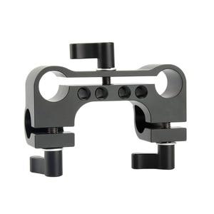 Image 2 - NICEYRIG зажим DSLR 15 мм, стержень, двойной в один, 90 градусов, Railblock для видеокамеры, камеры DV/DC, плечевая опора, система поддержки
