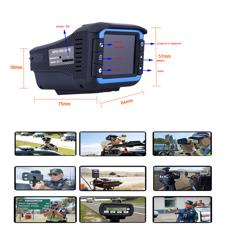 3 In 1 Dash Camera Car DVR Car Radar Detector DVR Camera with GPS Russian Voice Anti Radar Registrar Laser Radar Speed Dash Cam only for russian market 170 degree 2 4 car dvr e dog vgr b laser radar full band detector dvr camera speed inspection 3 in 1