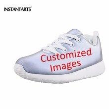 INSTANTARTS индивидуальные Детские кроссовки спортивные дышащие сетчатые свет Вес студентов Running спортивную обувь для мальчик девочка ребенок