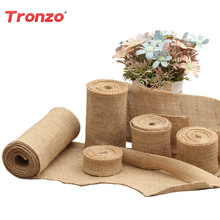 Tronzo 5M Jute Burlap Ribbons Wedding Table Chair Decorations DIY Bridal  Bouquet Party Chair Bands For
