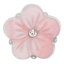 10PCS/LOT  flower shell rhinestone 18mm 20mm snaps button snap Jewelry fit women DIY bracelet necklace jewelry