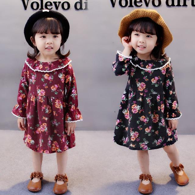 7d8ceb7872c6 1 4Y Flower Lace Kids Dress Princess Baby Girls Dresses Bohemian ...