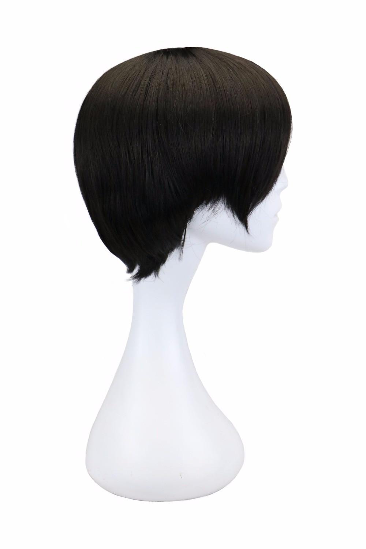preto 32 cm resistente ao calor perucas de cabelo sintético